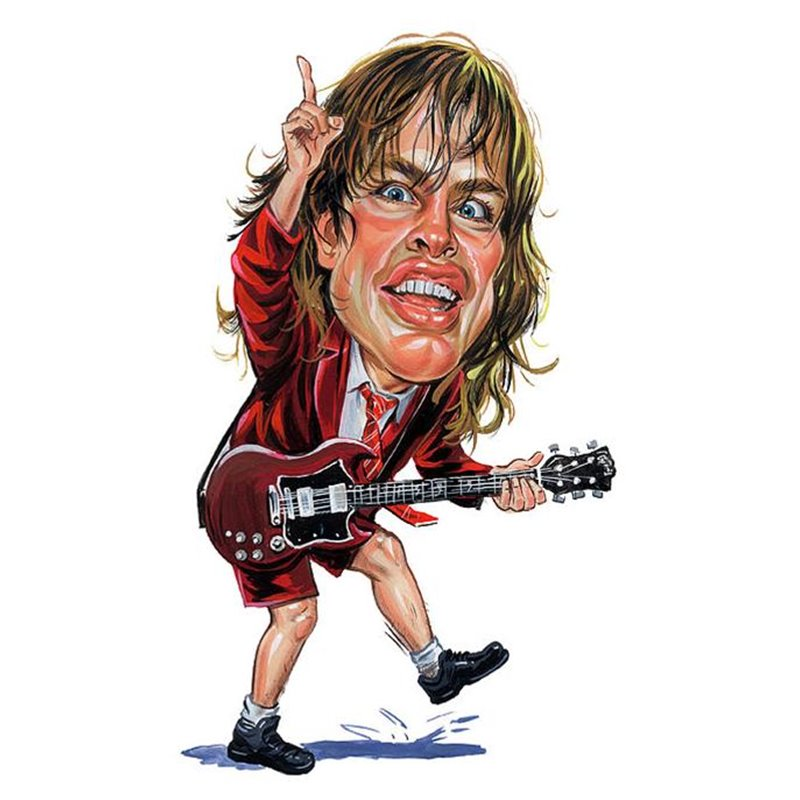 Caricature Angus Young