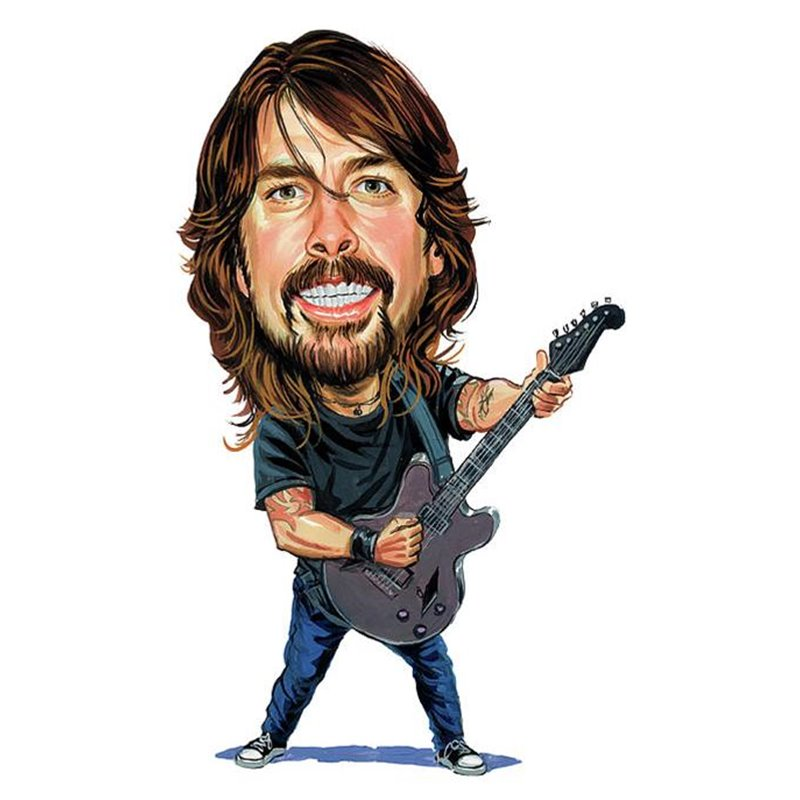 Caricature Dave Grohl